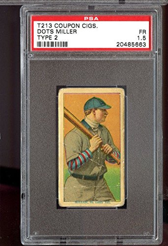 1914 T213 Coupon Cigarettes Type 2 Dots Miller PSA 1.5 Graded Baseball Card