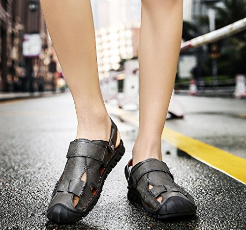 Scarpe da Beach Sandali Grey Baotou LEDLFIE Outdoor da Sandals Uomo Shoes Uomo 48wIqx