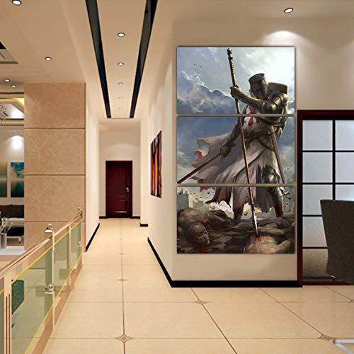 - lagifi Knight Templar Canvas 40X60Cm No Frame