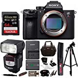 Sony Alpha a7RIII Mirrorless Digital Camera (Body) w/ Sony HVL-F43M External Flash & 64GB Accessory Bundle