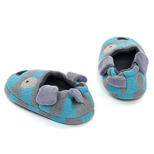 Pictures of Estamico Toddler Boys' Doggy Slipper Blue 2