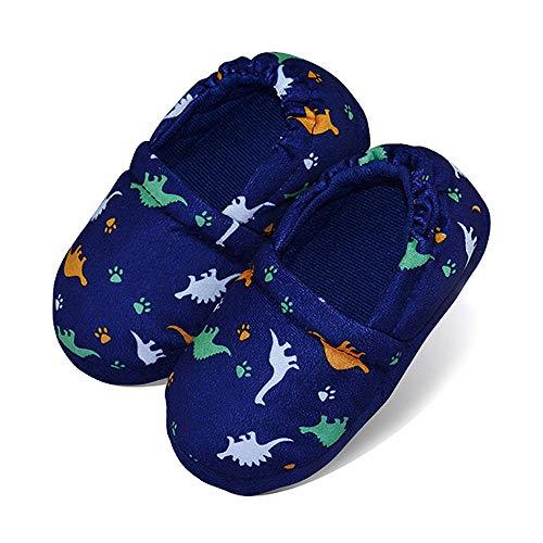 LA PLAGE Boys/Little Kid Winter Warm Indoor Slip-on Slippers Size 9-10 US Dinosaur