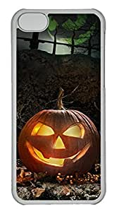 for ipod Touch 4 Case - Unique Cool Two Pumpkin Village Hard Clear Mobile Phone Protecting Shell