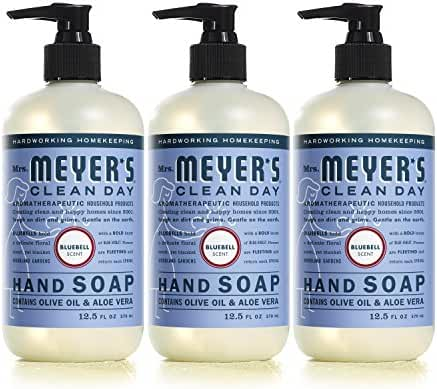 Mrs. Meyer's Liquid Hand Soap, Bluebell, 12.5 Fluid Ounce (Pack of 3)