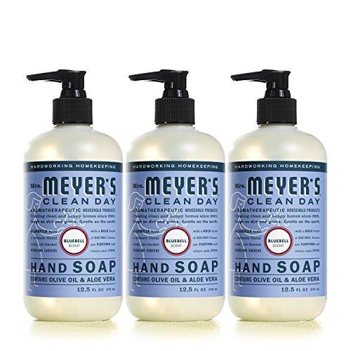 Mrs. Meyer's Liquid Hand Soap, Bluebell, 12.5 Fluid Ounce (Pack of 3)