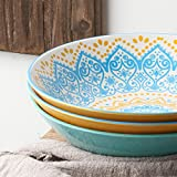 "ZONESUM 9"" Pasta Bowls - 40 oz Large Serving"