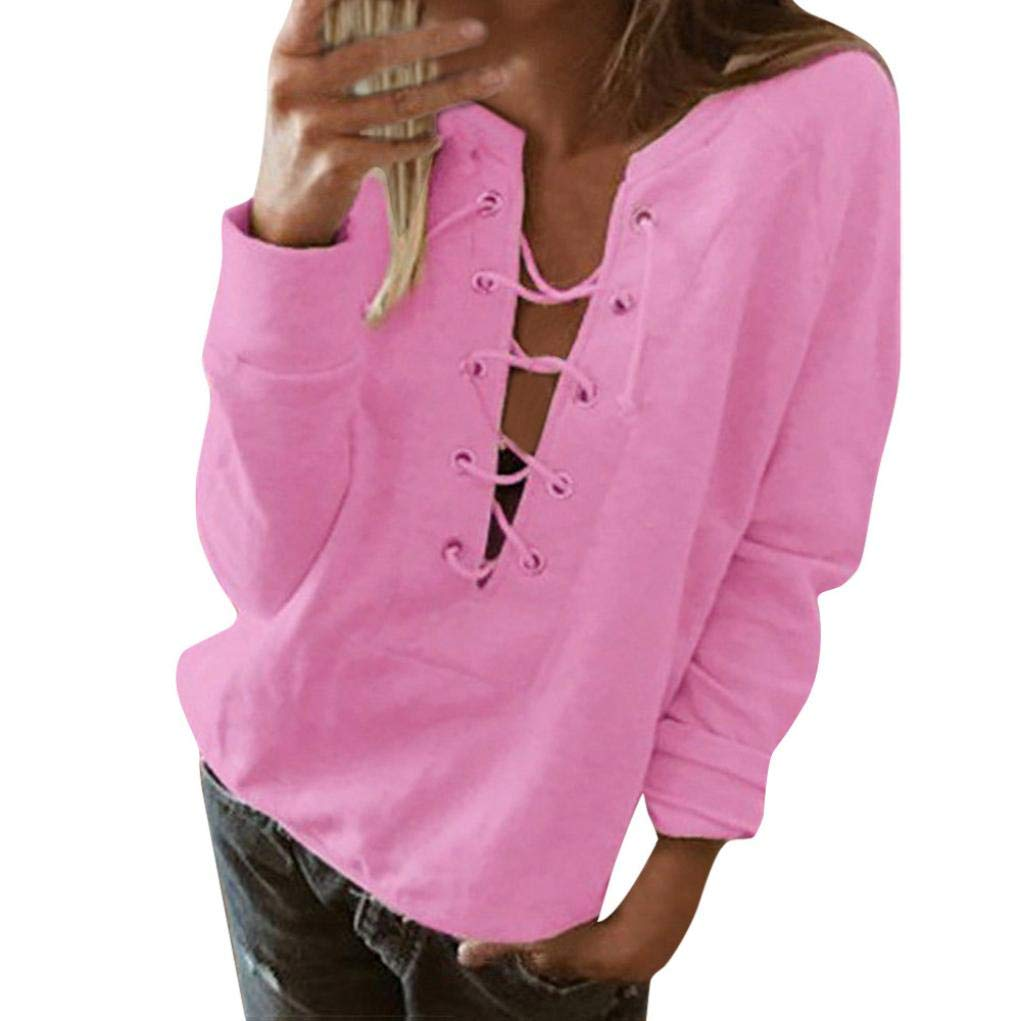 Women Tops Blouse Ladies Casual T-Shirt Long Sleeve Clearance SWPS