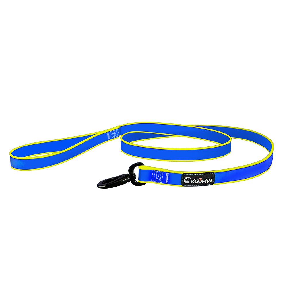 S 5 848 Inch KOOWIN Waterproof Soft Pet Dog Leash for Cats Small Medium Large Dogs,Do Not Hurt the Pet Cat Neck Antibacterial and Preverntion of Moldy,bluee and Yellow Mixed color (S 5 848 Inch)