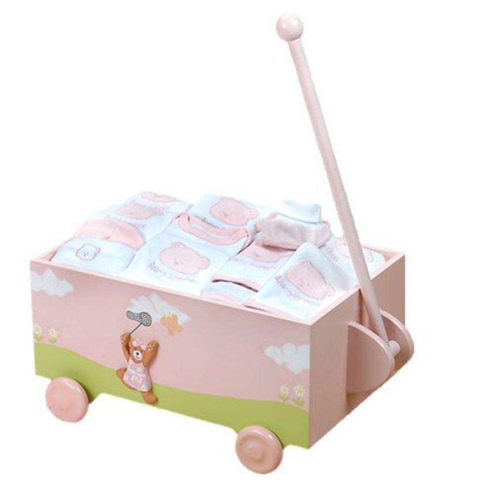 Pink Baby Wagon - Ten-Piece Gift Set