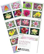 Garden Beauty 2021 USPS Forever Stamps Postage 1 Booklet 20 Stamps First-Class Letter Mail Self-Adhesive Self-