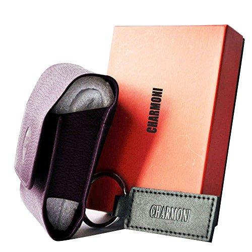 Vachette Cuir Charmoni® Véritable Cigarette Standard Taille En Format Violet Etui Porte 20 qpHwqzC