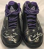 Carl Landry PEAK Game Used Shoes Autographed FSG