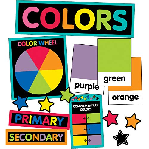 Schoolgirl Style Decorative Just Teach Color Cards Mini Bulletin Board Set (110396)