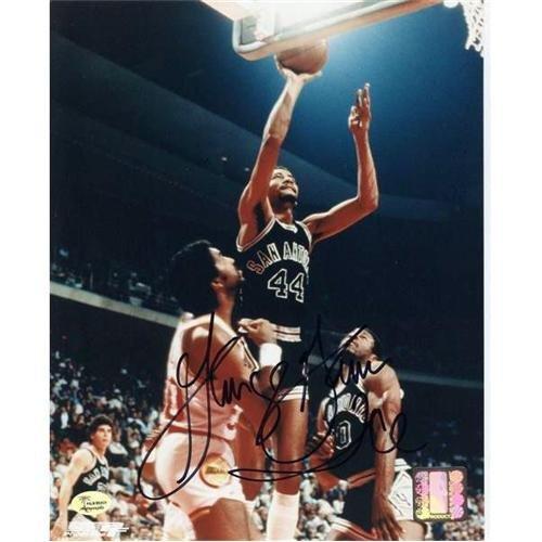 George Gervin Autographed San Antonio Spurs 8x10 Photo