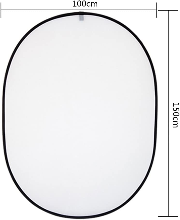 Silver Black Dison Photo Studio 32 Inch 80cm 5 in 1 Collapsible Round Reflector Disc Kit with Carrying Case White and Translucent Gold
