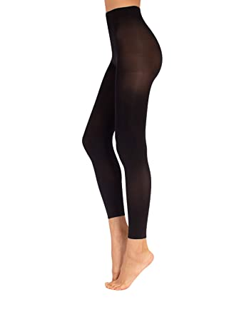 6c6a96d704690 CALZITALY Footless Tights | Ladies Leggings | Opaque Tights | Black | S/M  L/XL |60 DEN | Made in Italy: Amazon.co.uk: Clothing