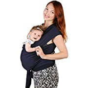 Baby Sling Carrier - Cotton Nursing Moby Wrap For Newborn | Infant Carrier | Toddler Moby Wrap | Breastfeeding Sling Baby Carriers - Baby Wearing - Nice Baby Shower Gift For Boys and Girls (Navy Blue)