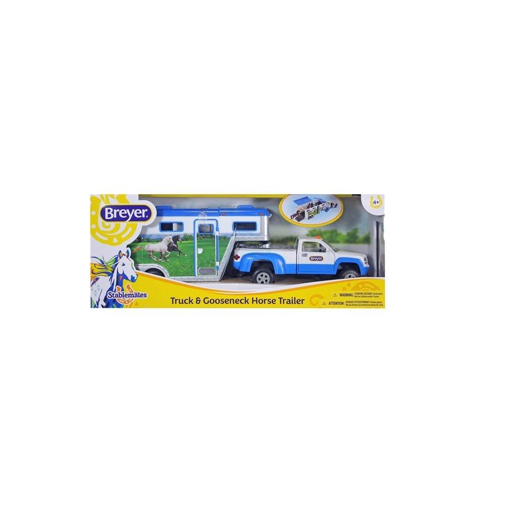 Breyer Stablemates SM Truck and Trailer Pferdetransporter Pick up Farbauswahl Farbe:blau NETPROSHOP