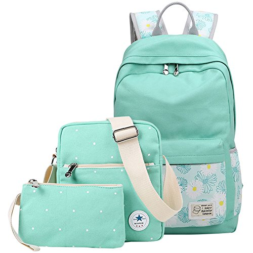 Mygreen Unisex Stylish Floral Bookbags School Rucksack Travel Backpack for 14Inch Laptop (Stylish Bookbags)