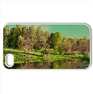 Beautiful Park Watercolor style Cover iPhone 4 and 4S Case (Spring Watercolor style Cover iPhone 4 and 4S Case)