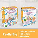 Tub Cubby Bath Toy Organizer + 36 Foam ABC 123