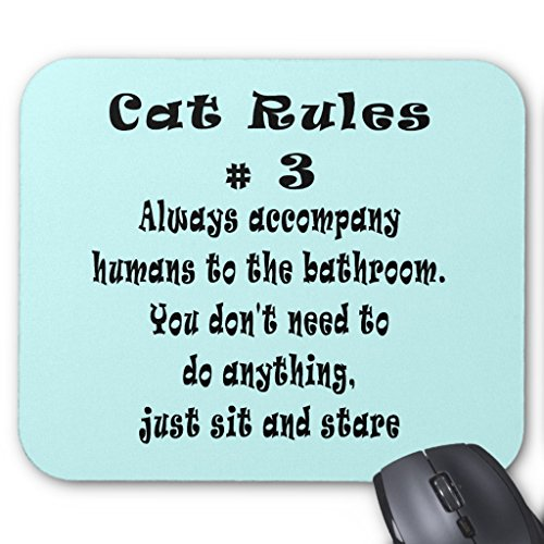 Number Rules Cat (Zazzle Cat Rules Number 3 Mouse Pad)