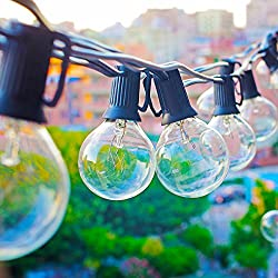 Zitrades Globe String Lights With G40 Bulbs Ul Listed 25ft Outdoor String Lights For Patio Garden Commercial Party