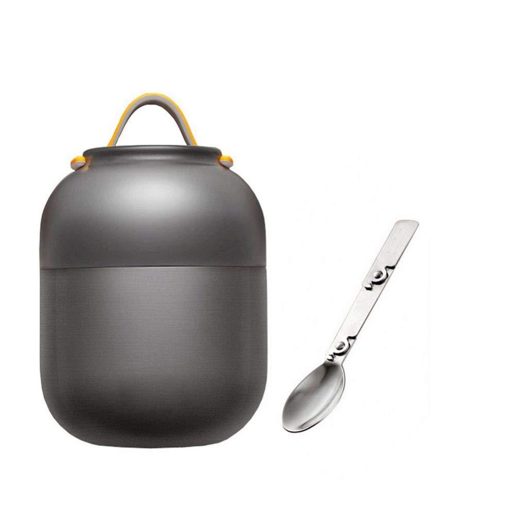 HTISRJBO thermobecher Edelstahl Isolierbecher Nahrungsmittelbehälter Vakuum Lunchbox Thermos für Kinder Lunchbox mit Weihnachten