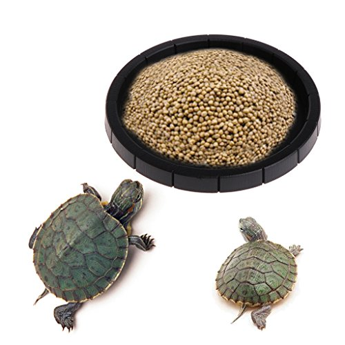 SELFON Reptile Tortoise Snake Food Dish Pet Drinking Food Feeder Basin Water Bowl (Round Shape) (Dish Tortoise)
