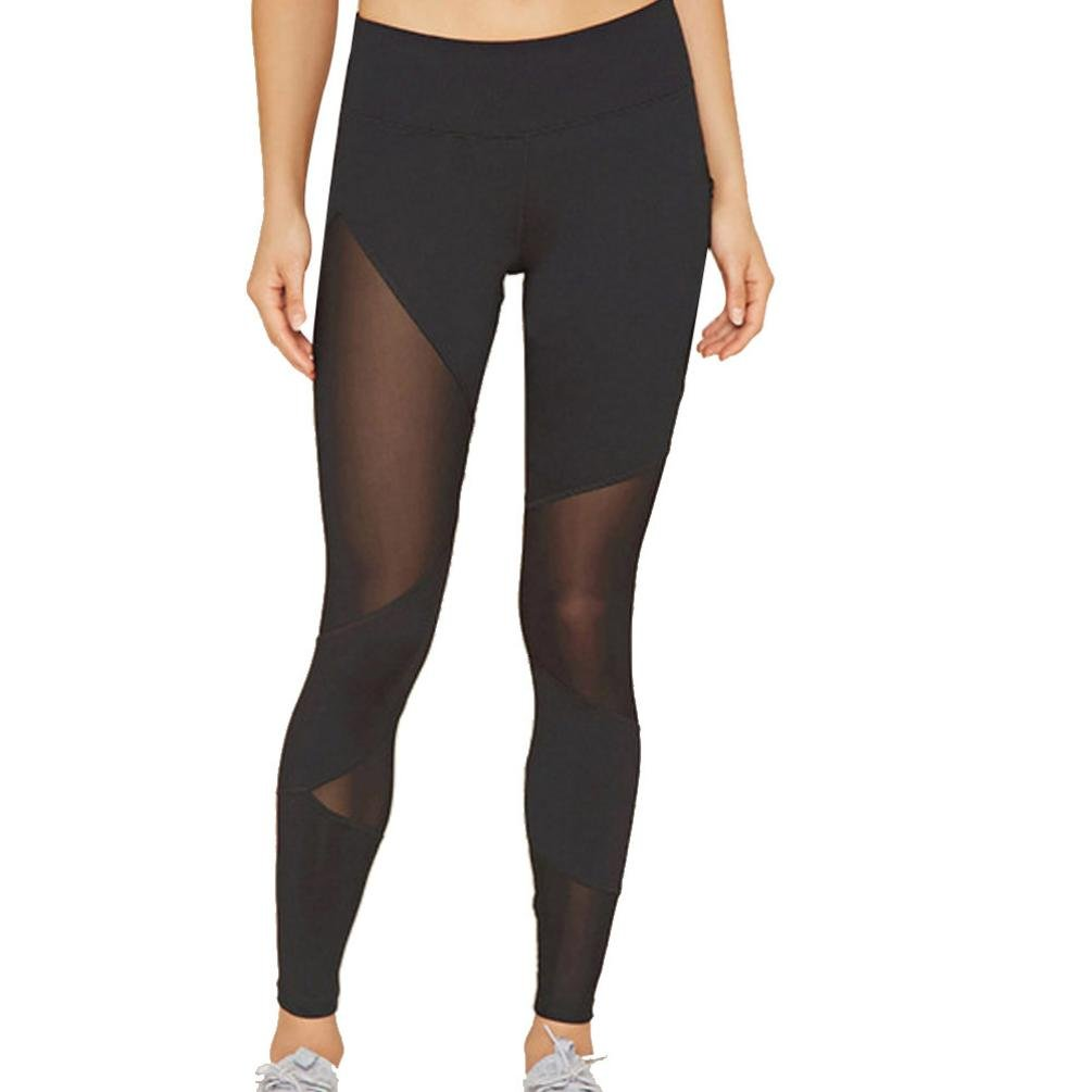 CSSD Women {High Waist} {Sports Gym Yoga Leggings} {Running Fitness Pants} {Athletic Trousers} (S, Black)
