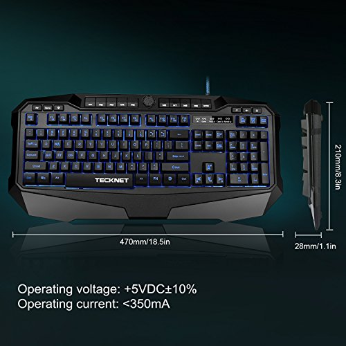 51TWcyhplQL - TeckNet-Gryphon-Pro-LED-Illuminated-Programmable-Gaming-Keyboard-and-Mouse-set-Water-Resistant-Design-US-layout