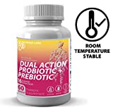 Nourish Labs Organic Prebiotic Supplement for Women. Best Dual Action Prebiotics with Probiotics. Probiotics and Prebiotics with Cranberry for Women's Yeast and Vaginosis.