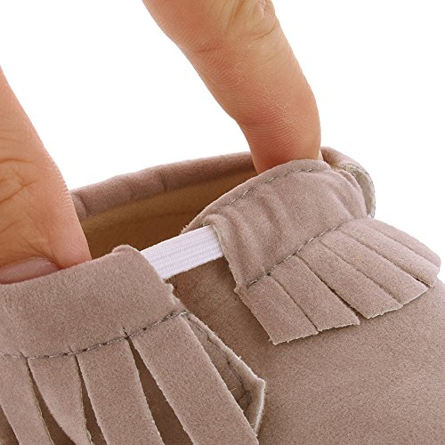 samber bebé zapatos para bebé suave parte inferior zapatos de bebé primera zapatos de senderismo rosa rosa Talla:11 gris