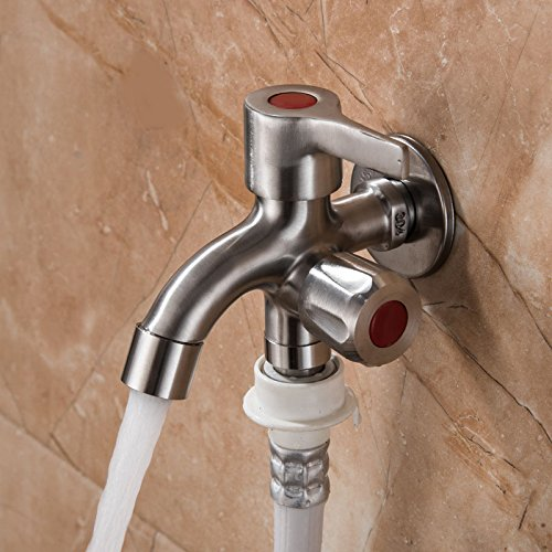 Bagger Gauges - Twice Irrigate - Multifunctional Sink Stainless Steel Brushed Double Tube Drawing Drainer Water Faucet - Replicate Hidrosi Body Multiple Sweat Piddle Two-Bagger Repeat System - 1PCs