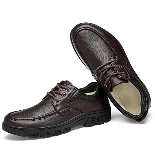 Oxford up Leather Men's Rubber Shoes Insun Brown Sole Lace wqfBWazI