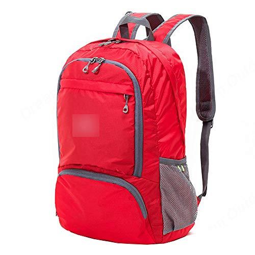 JITALFASH Lightweight Foldable Waterproof Nylon Women Men Skin Pack Backpack 20L Travel Outdoor Sports Bag Red (Gucci Von Gucci Für Herren)