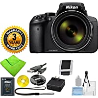 Nikon COOLPIX P900 Digital Camera with 83x Optical Zoom and Built-In Wi-Fi (Black) with ZeeKits 5pc Cleaning Set + 3 Year Worldwide Warranty - International Version