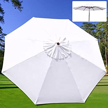 Delightful 9 Feet Umbrella Replacement Sun Shade Polyester Canopy Top Cover 9 Ft  Diameter 8 Rib