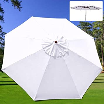 9 Ft Patio Umbrella Replacement Sunshade Canopy Outdoor Top White 9u0027 x 9u0027 / & Amazon.com : 9 Ft Patio Umbrella Replacement Sunshade Canopy ...