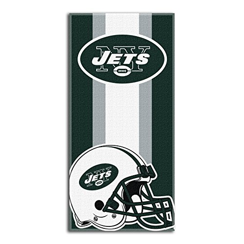 The Northwest Company NFL New York Jets Zone Read Beach Towel, 30-inch by 60-inch