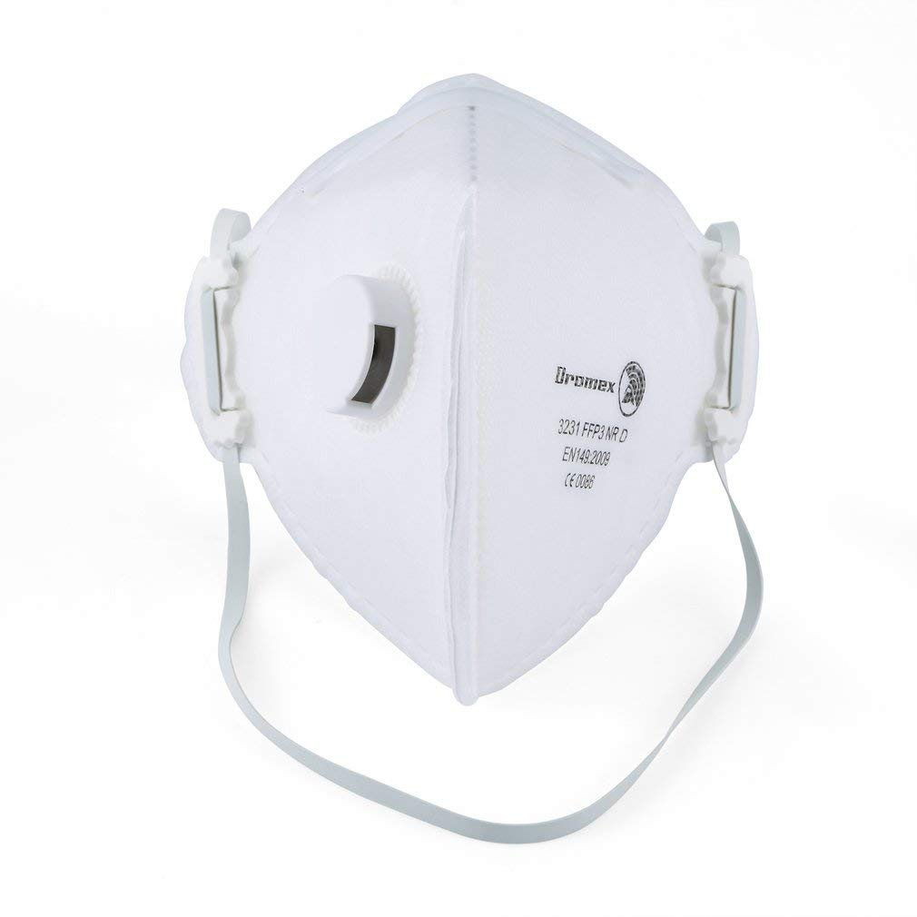 Antivirus Dromex N95 y máscara PM2.5, máscara FFP3 con válvula de respiración cómoda, filtro eficaz 99% de bacterias y polvo, máscara de seguridad unisex anti