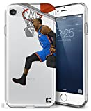 Epic Cases iPhone 7/8 Plus Case, for Apple iPhone, Ultra Slim Transparent Dominate the Basketball Court Series - Russ MVP, Clear Sports Case (iPhone) … (iPhone 7 Plus) (iPhone 8 Plus)