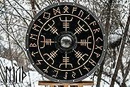 Medieval Larp Warrior Wood & Steel Viking Round shield Armor Templar Sh