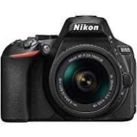 Nikon D5600 24.2MP DX-Format Digital SLR Camera w/AF-P 18-55mm f/3.5-5.6G VR Lens 1576B - (Certified Refurbished)