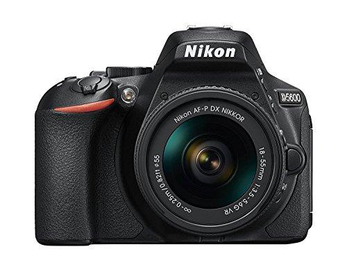 Nikon D5600 DX-format Digital SLR w/ AF-P DX NIKKOR 18-55mm f/3.5-5.6G VR, Touchscreen, Wi-Fi, Bluetooth (Certified Refurbished)