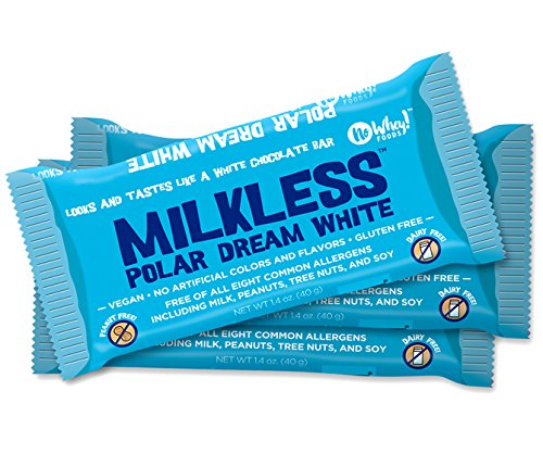 Milkless Polar Dream White Chocolate Bars (3 pack) - Gluten Free, Nut Free, Milk Free