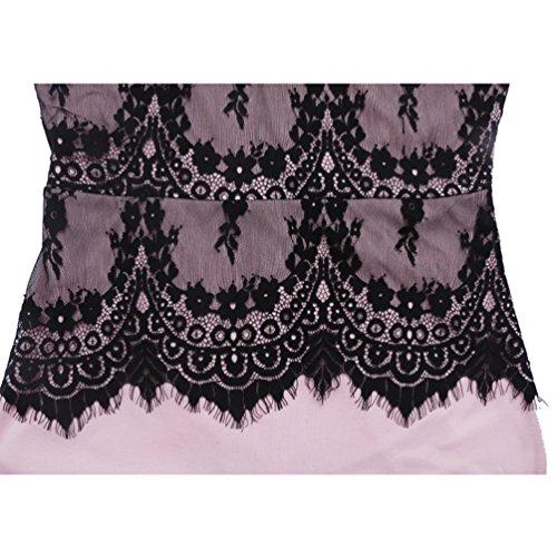 Wanyang Rosa Vestito Pizzo Ragazze Floreali Donne Delle In Sottile Crochet Matita Sundress Dalla r78fSwrx
