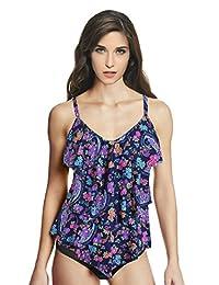 Ebuddy Suit Women's Rita Tiered Bikini Tankini Top