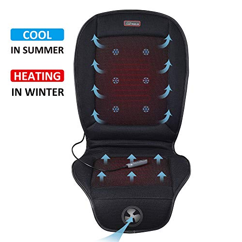 SNAILAX Seat Cushion with 3 Levels Cooling and 2 Levels Heating SL26A8 Cool and Heating Pad for Car Truck Home Office