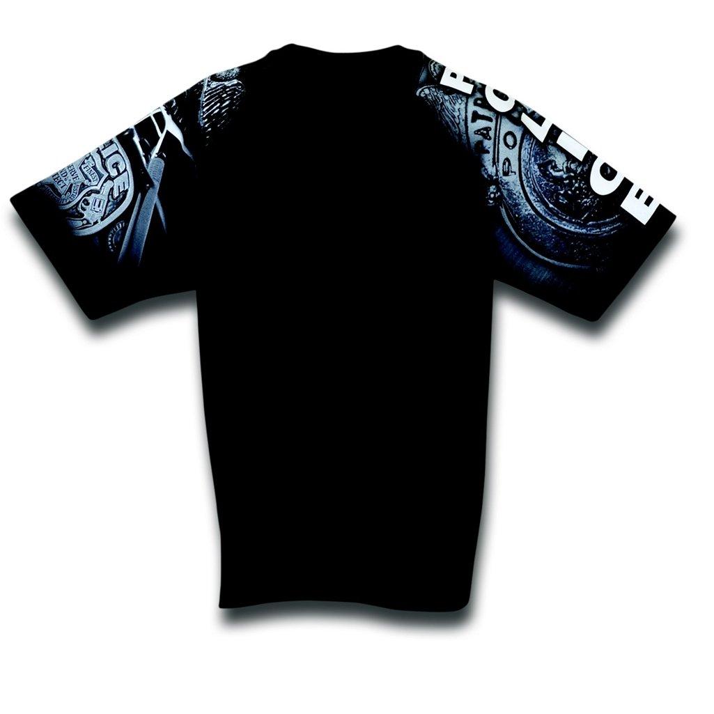 新着商品 警察Designer Tシャツから日常life-ブラック XXX-Large XXX-Large 警察Designer B00CIYGQS6 ブラック/ホワイト B00CIYGQS6, イコー質店:36792c1d --- eastcoastaudiovisual.com